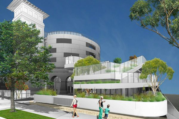 The proposed Little Lane Early Learning centre at the Drummoyne Reservoir by Milton Architects.