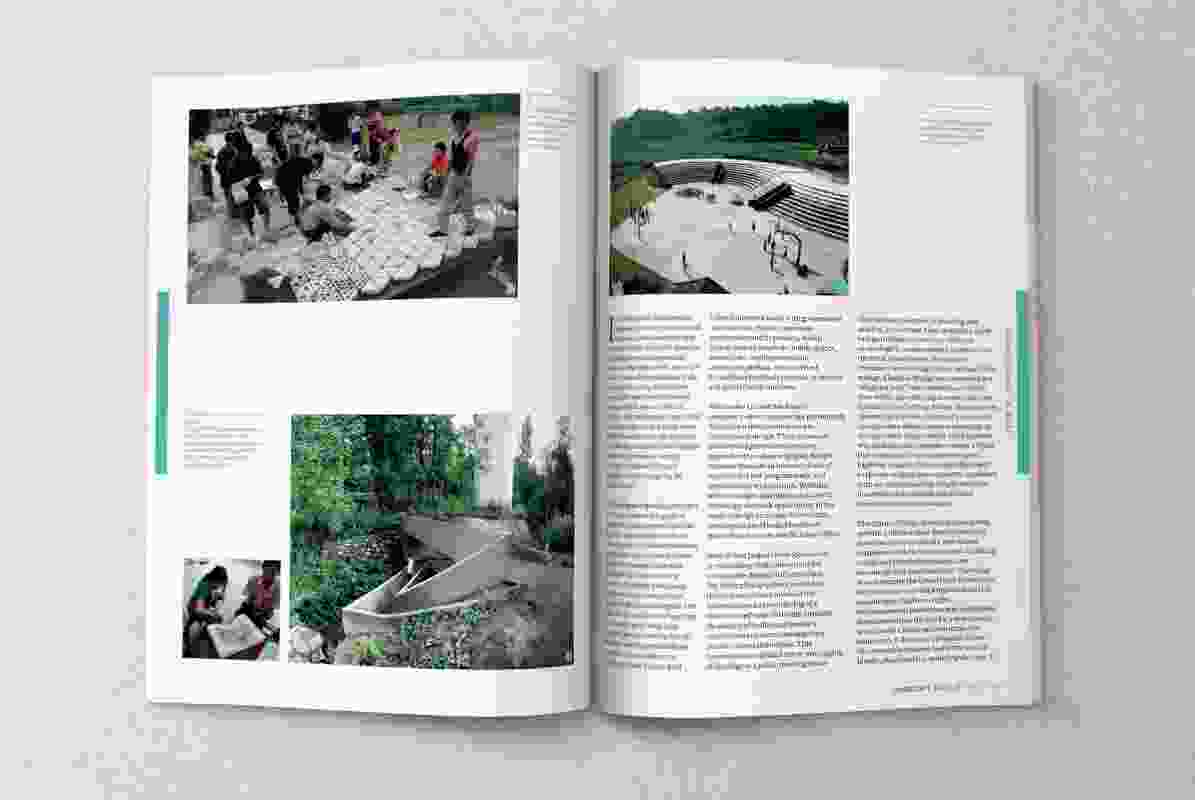 A spread from the February 2018 issue of Landscape Architecture Australia.