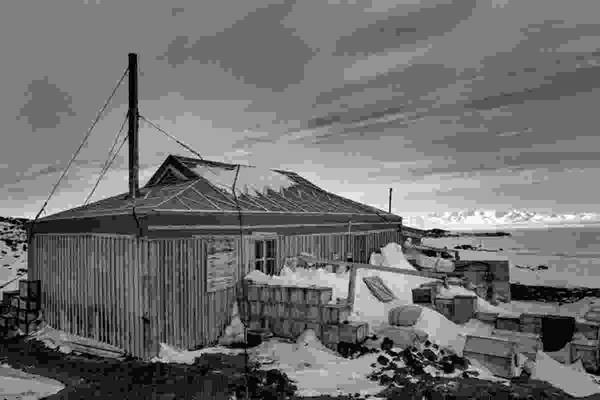 Shackleton's historic base at Cape Royds, Ross Island.