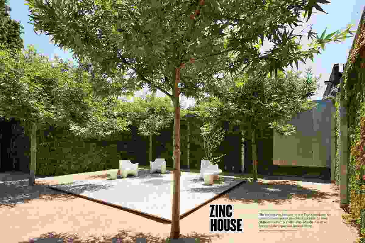 Zinc House garden by Tract Consultants.