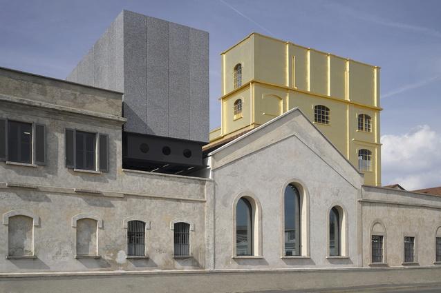 Fondazione Prada in Milan, Italy by OMA (2017).