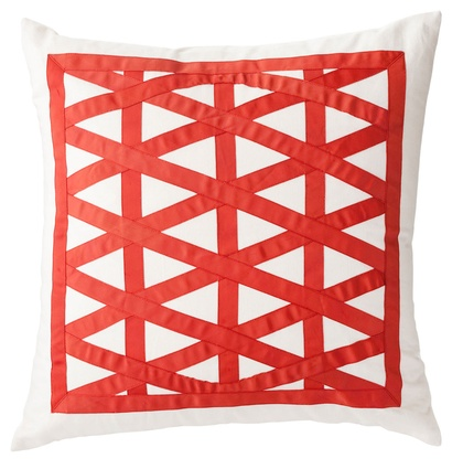 Ribbon Lattice cushion from Linen and Moore.