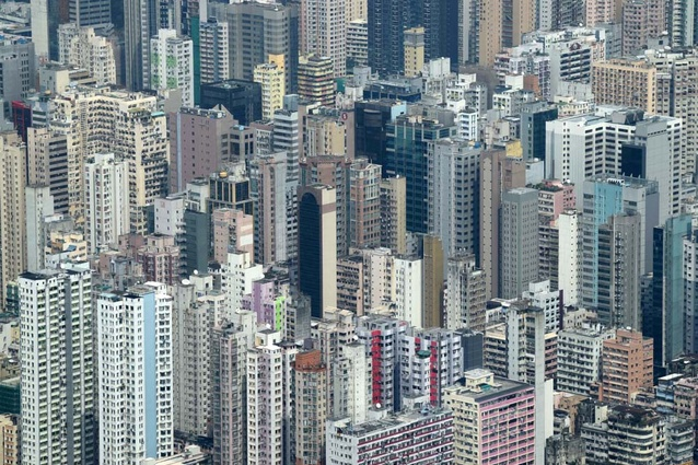 Hong Kong buildings.