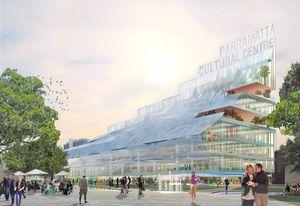 Winning design for a civic building in Parramatta Square by Manuelle Gautrand Architecture, DesignInc and Lacoste + Stevenson.