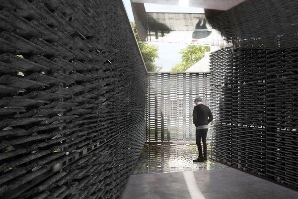 The 2018 Serpentine pavilion by Frida Escobedo.