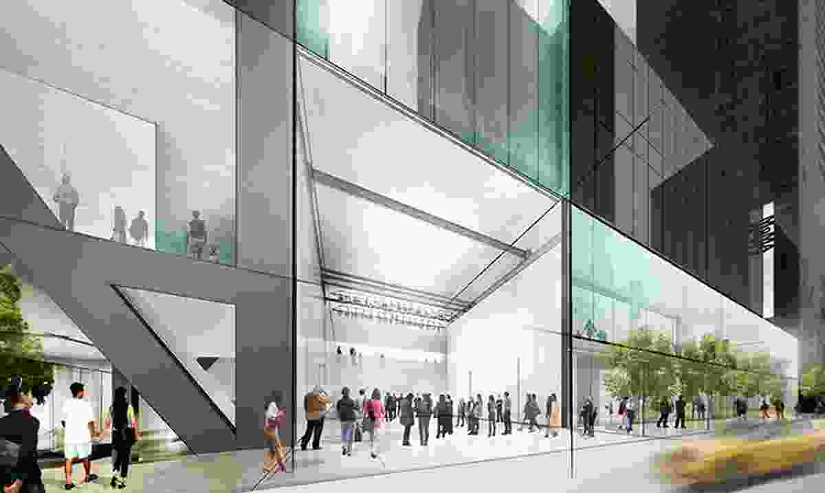 Conceptual sketch of proposed works at MoMA by Diller Schofidio + Renfro.