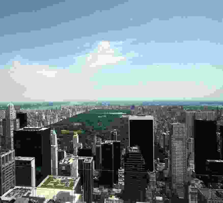 Central Park in Manhattan was designed by Frederick Olmsted as a natural oasis inscribed within the metropolis.