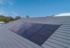 InlineSolar integrated solar roofing panels.