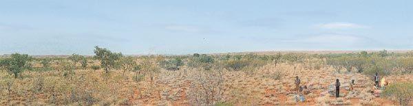 Aboriginal campers in Central Australia.