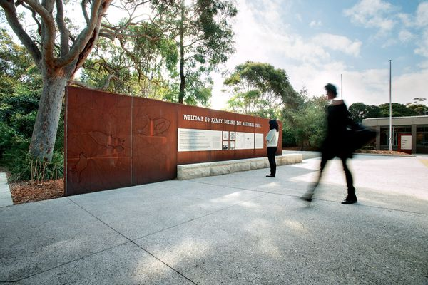 The walk entrance is where Botany Bay's heavy industrial present merges with its indigenous past.