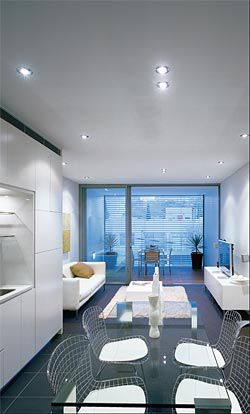 The neatly planned living area of an apartment.Image: Brett Boardman
