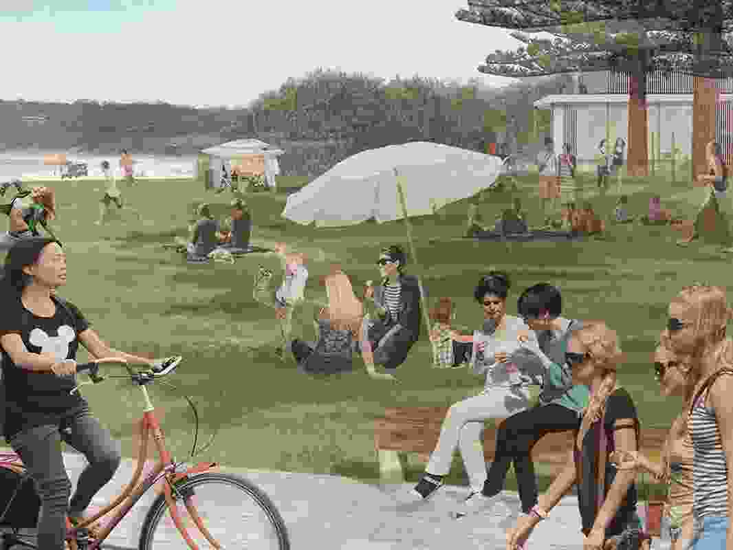 The masterplan would see a new play space introduced near the Main Beach area.