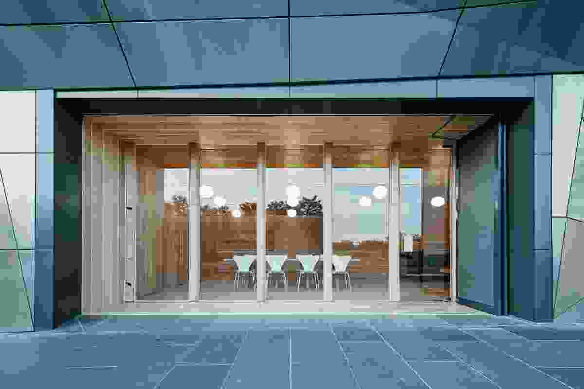 The main hub/lounge, wrapped in douglas fir pine, is spacious yet comforting.