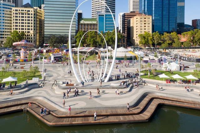 Elizabeth Quay by Metropolitan Redevelopment Authority, ARM Architecture and Taylor Cullity Lethlean.