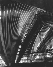 Sydney Opera House, major hall vaults. Image: Max Dupain, 1967.