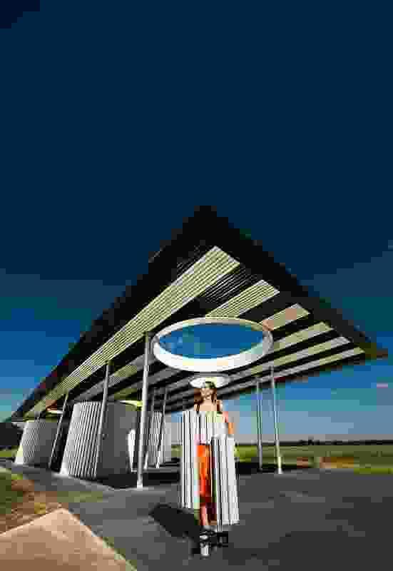 Calder Woodburn rest stop: Goulburn Valley Highway, Shepparton (BKK Architects) by Kimberly Botha and Marcus Shanahan.