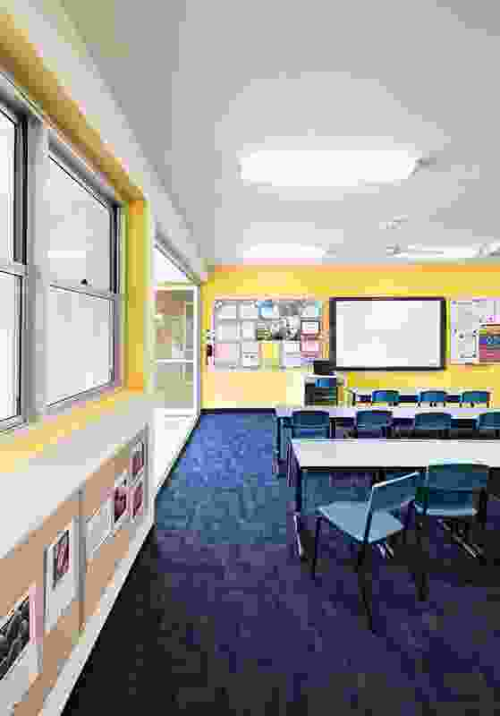 Classrooms are orientated to maximize natural light and ventilation.