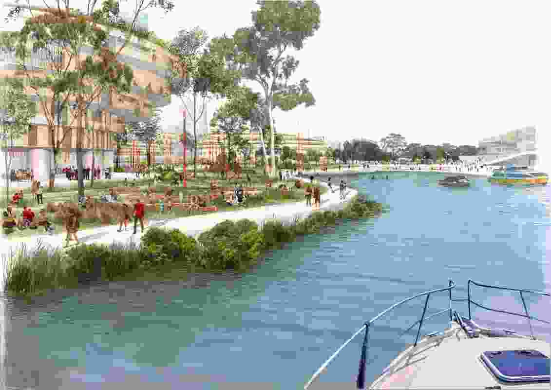 The proposed redevelopment of the Blackwattle Bay precinct.