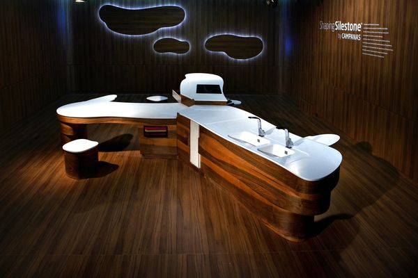 Shaping Silestone by Fernando and Humberto Campana.