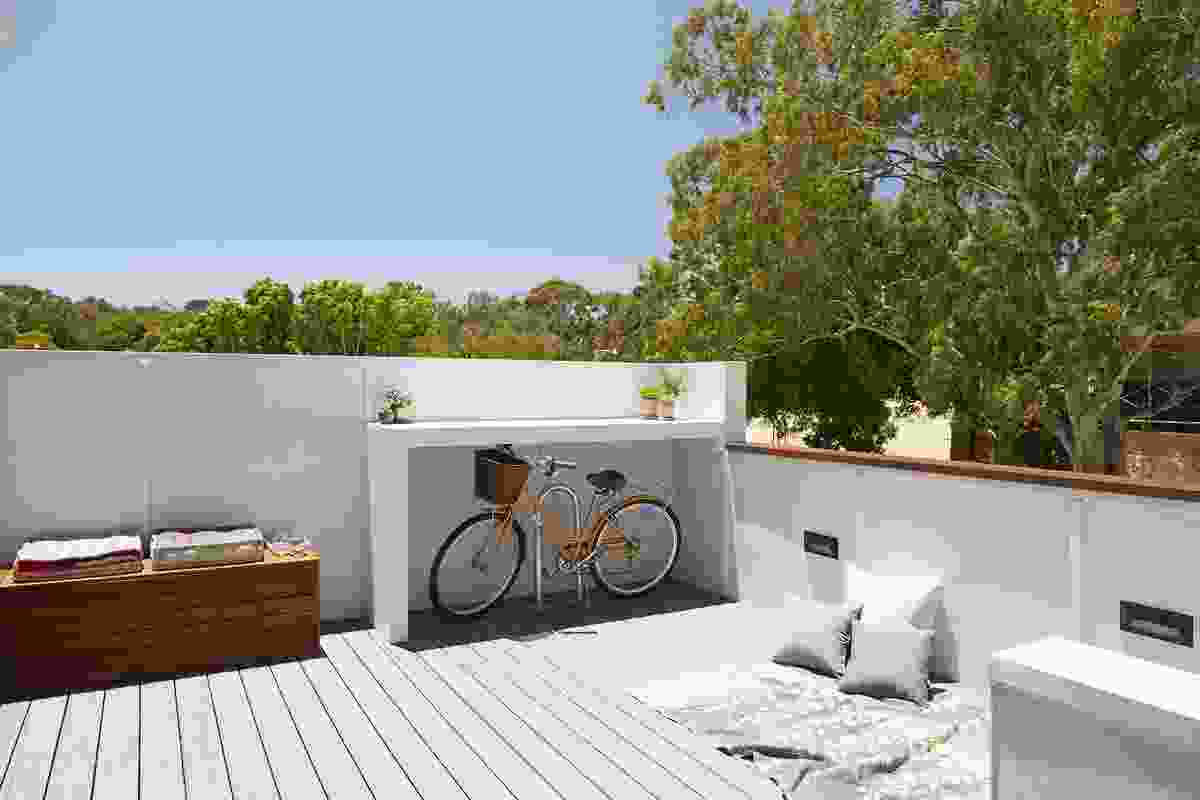 Each apartment has its own private outdoor space as well as access to a communal outdoor space.