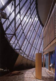 The dramatic space of the conservatory. Photographs Bart Maiorana.