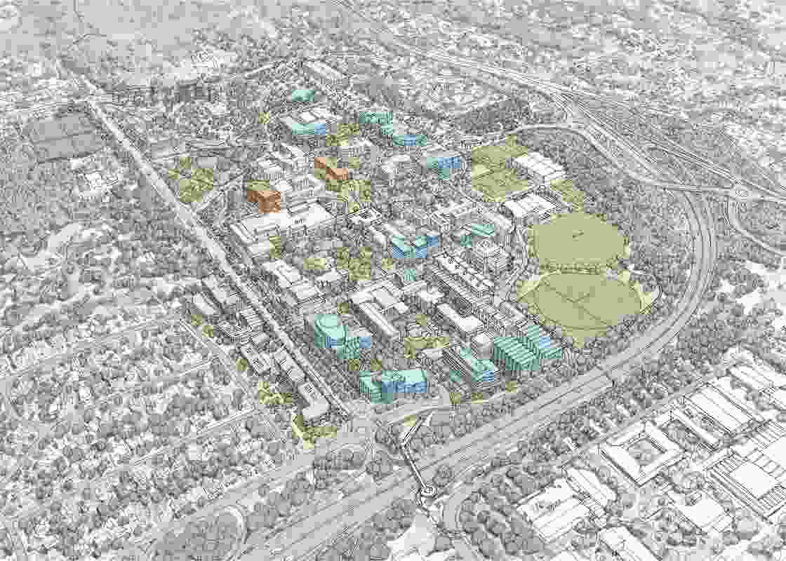 The University of Wollongong's 2016–2036 Wollongong campus masterplan.