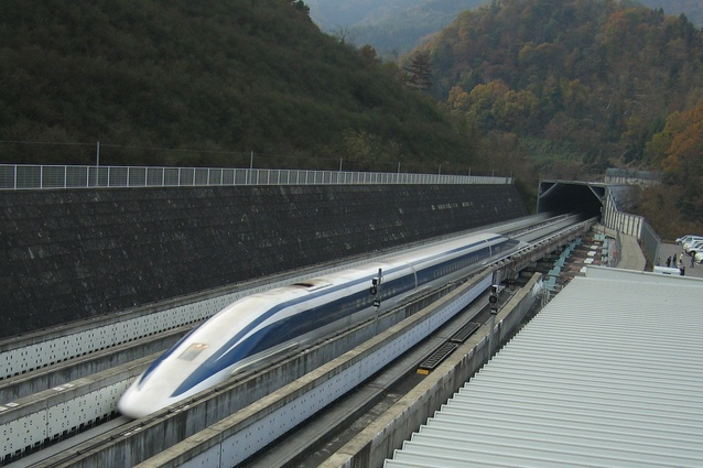 The Central Japan Railway Company's SCMaglev high-speed train in Japan.