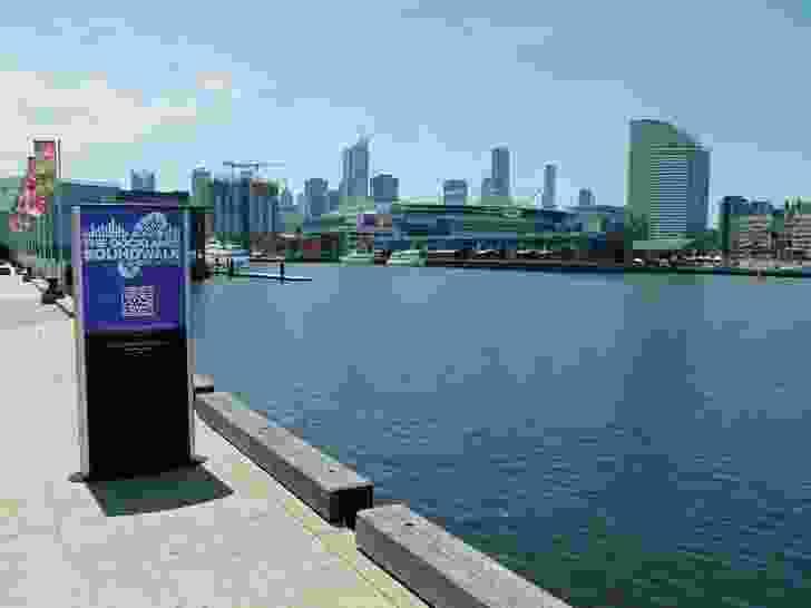 A stop on the Docklands SoundWalk in Melbourne.
