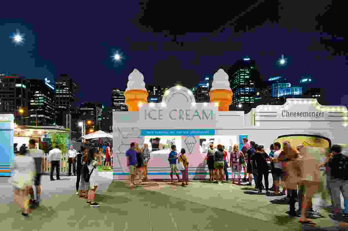 The Urban Dairy 2016 Melbourne Food and Wine Festival (Southbank, Victoria) by Hassell