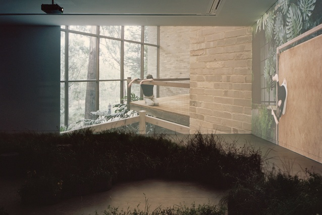 Silent, two-channel videos simultaneously present different perspectives of selected projects by Australian practices.