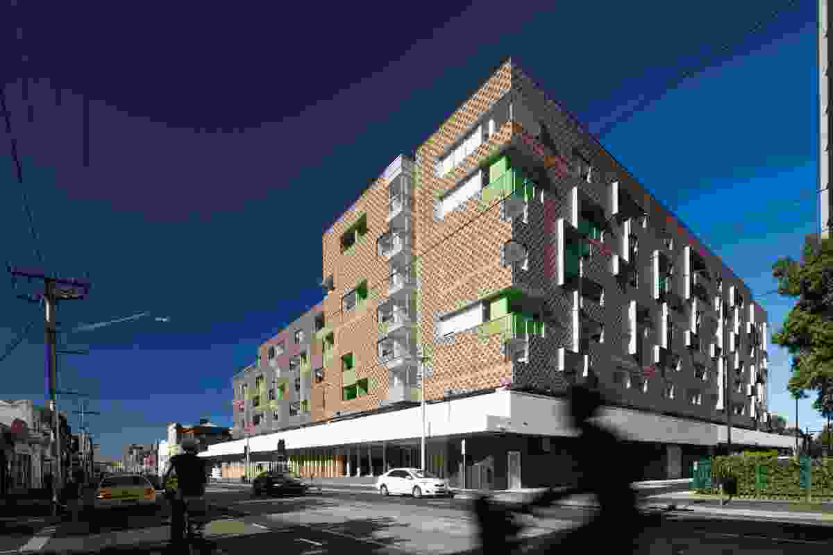 Atherton Gardens Social Housing in Melbourne by McCabe Architects and Bird de la Coeur Architects.