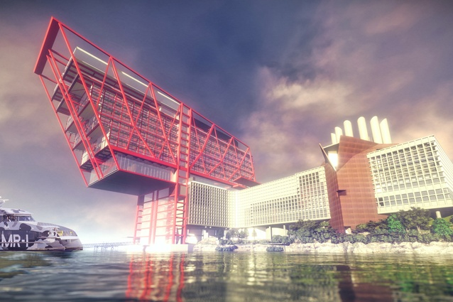 A proposed hotel development at the Museum of Old and New Art, MONA Motown, by Fender Katsalidis.