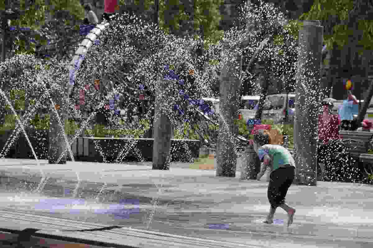 Water play.