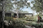 Construction underway for Andrew Burns Architecture's cliff top wilderness lodges in Tasmania