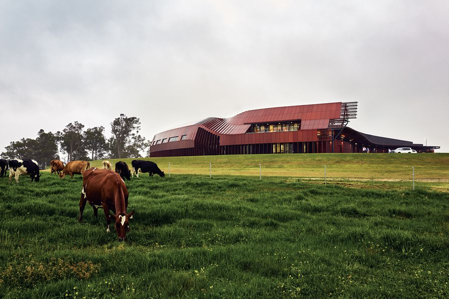 Programmatic shifts are expressed externally, signalling the transition from barn to shed and alluding to the collection of buildings that typically characterize farm settings.