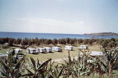Coffs Harbour caravan park, 1967.