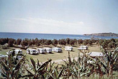 Coffs Harbour caravan park, 1967.