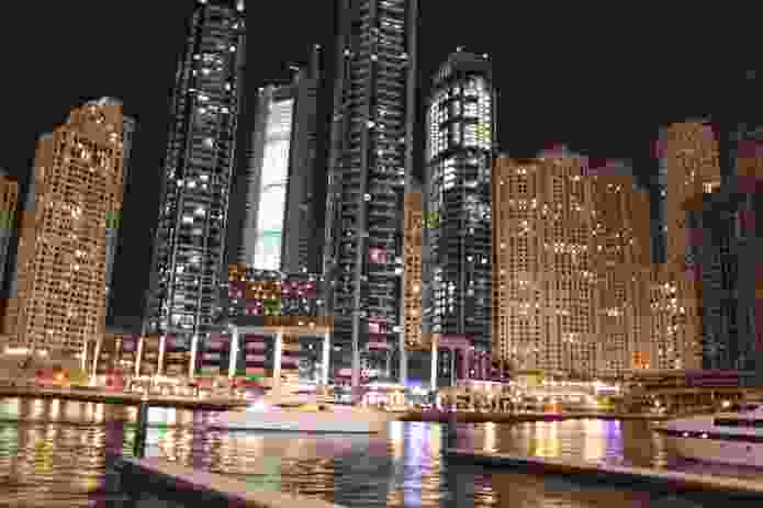 The dense wall of buildings hugging the Marina creates the illusion of a district within the otherwise undefined expanse of New Dubai.