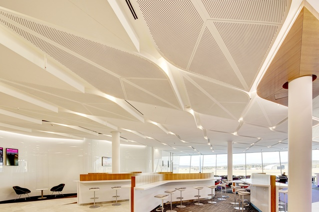 Virgin Australia Canberra Lounge by Tonkin Zulaikha Greer Architects.