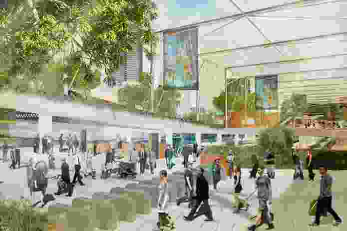Peoples Choice winning entry in the Flinders Street Station Design Competition by Colombian students Eduardo Velasquez + Manuel Pineda + Santiago Medina.