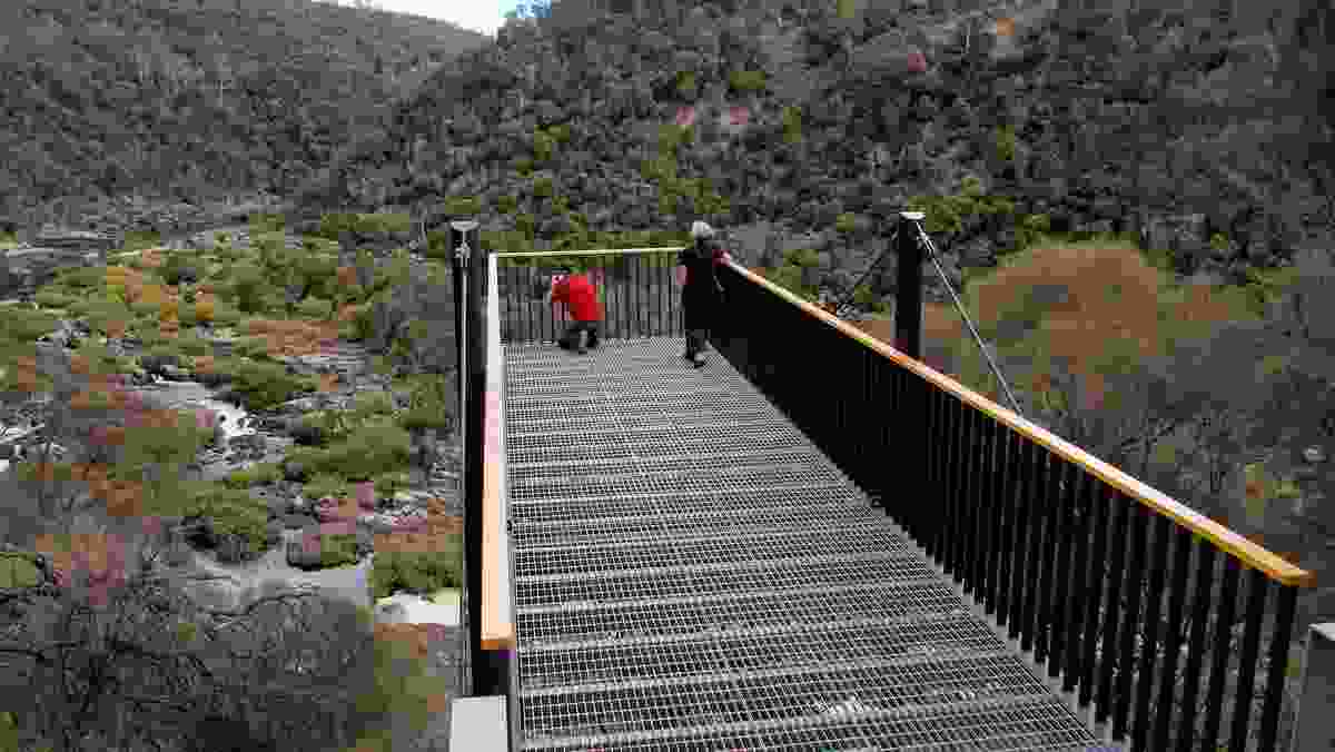 Sentinel Lookout at  Cataract Gorge, designed by Stuart Tanner.