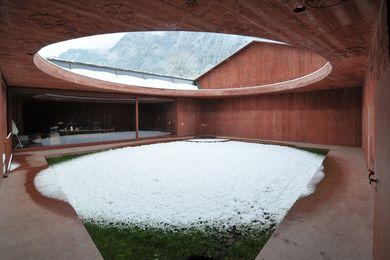 Valerio Olgiati's Bardill Studio in Scharans, Switzerland.