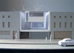 Model of the stage one competition entry by Kringas Architects.