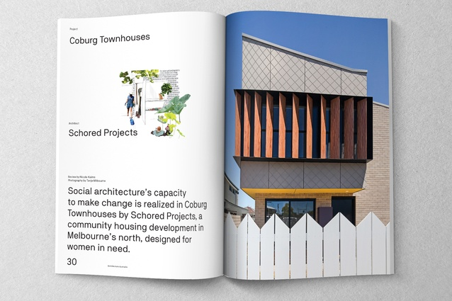 Coburg Townhouses designed by Schored Projects.