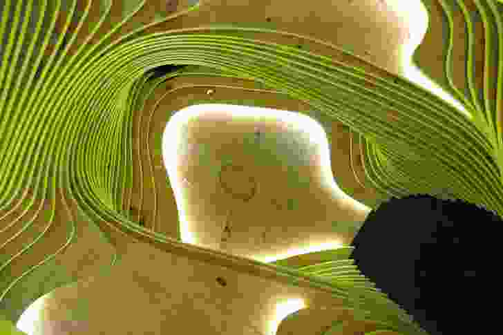 LAVA's origami cave detail.