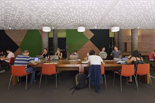 Woods Bagot-designed collaborative learning space at the University of Technology, Sydney, Building 5.