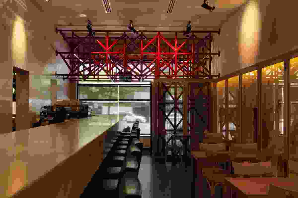 Bar Di Stasio by Robert Simeoni Architects in collaboration with Callum Morton and David Pidgeon.