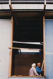 On site at Wynnum with Graham Mellor, 2000.
