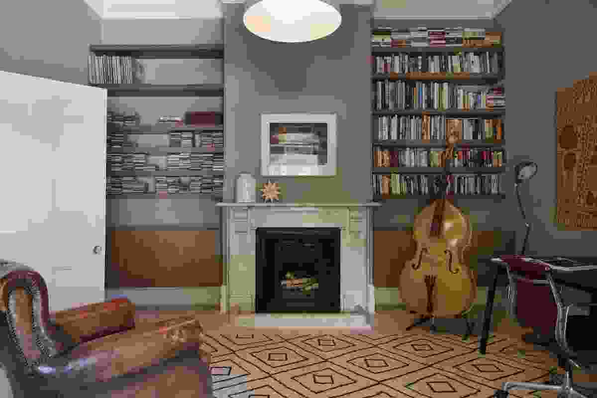 An original front room now converted to a music room.