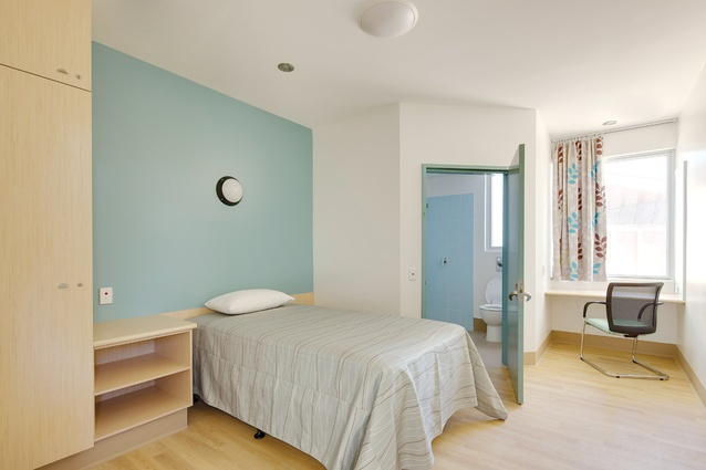 A soothing palette of colours was chosen for therapeutic reasons.